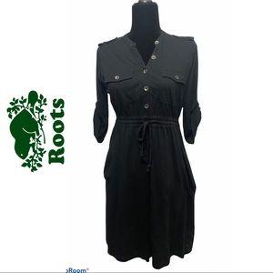 Roots Black Pima Cotton Dress